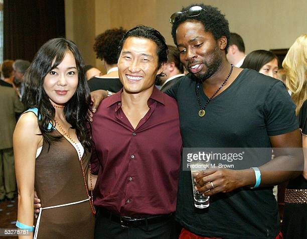 Actors Yoonjin Kim Daniel Dae Kim and Harold Perrineau Jr of Lost pose at the 21st Annual Television Critics Association cocktail reception at the...