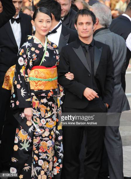 "Actors Yoshino Kimura and Gael Garcia Bernal arrives at the ""Blindness"" premiere during the 61st Cannes International Film Festival on May 14, 2008..."