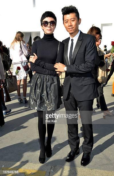Actors Yuan Quan and Xia Yu the Christian Dior Spring/Summer 2013 women's wear show during Paris Fashion Week at Place Vauban on September 28, 2012...