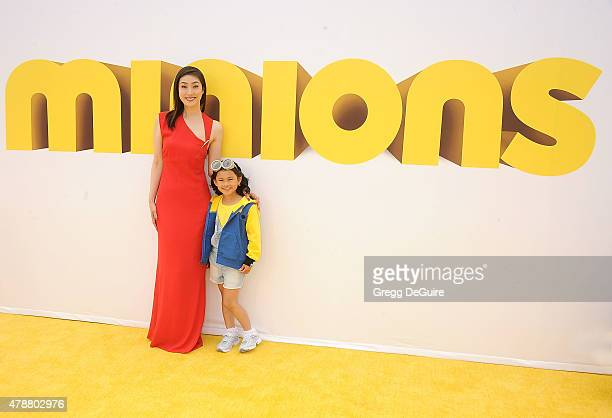 Actors Yuki Amami and Saika Fujita arrive at the premiere of Universal Pictures and Illumination Entertainment's 'Minions' at The Shrine Auditorium...