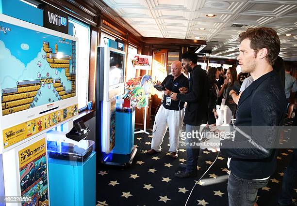 Actors Yusuf Gatewood and Joseph Morgan attend The Nintendo Lounge on the TV Guide Magazine yacht during ComicCon International 2015 on July 10 2015...