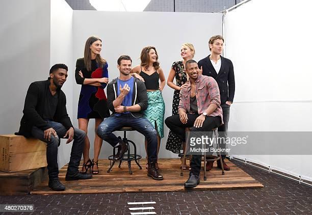 "Actors Yusuf Gatewood, Phoebe Tonkin, Daniel Gillies, Danielle Campbell, Charles Michael Davis, Leah Pipes, and Joseph Morgan of ""The Originals""..."