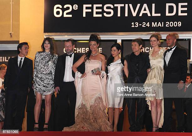 Actors Yvan Attal and Charlotte Gainsbourg director Lars Von Trier wife Bente Froge Giada Colagrande husband and actor Willem Dafoe and producer Meta...