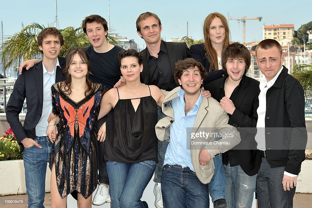 Actors Yvan Tassin,Arthur Mazet director Fabrice Gobert with actress Ana Girardot, (Front Row - Left to Right) actresses Audrey Bastien, Selma El Moussi with actors Esteben Carvajal-Alegria,Laurent Delbecque,Jules Pelissier attend the 'Lights Out' Photo Call held at the Palais des Festivals during the 63rd Annual International Cannes Film Festival on May 20, 2010 in Cannes, France.