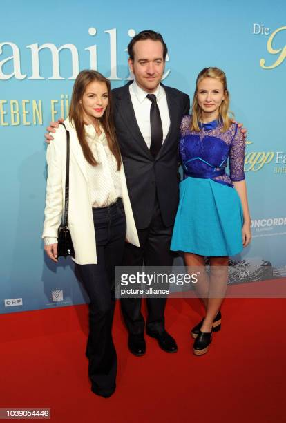 Actors Yvonne Catterfeld Matthew MacFadyen and Eliza Bennett arrive for the premier of their new film The Trapp Family in Munich Germany 2 November...