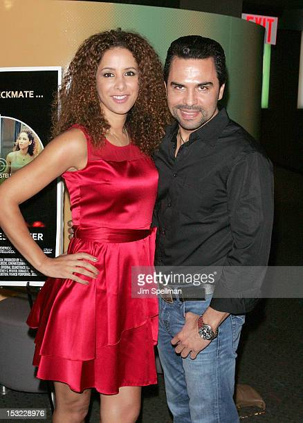 Actors Yvonne Maria Schaefer and Manny Perez attend the 'Keep Your Enemies Closer Checkmate' screening at the School of Visual Arts Theater on...