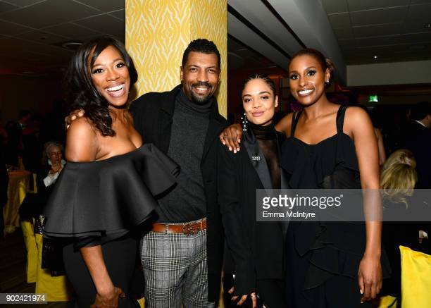 Actors Yvonne Orji Deon Cole Tessa Thompson and actor/producer Issa Rae attend HBO's Official Golden Globe Awards After Party at Circa 55 Restaurant...