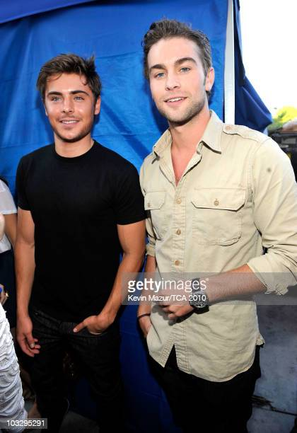 Actors Zac Efron and Chase Crawford attend the 2010 Teen Choice Awards at Gibson Amphitheatre on August 8 2010 in Universal City California