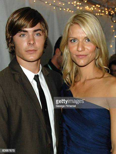 """Actors Zac Efron and Claire Danes arrive at the """"Me and Orson Welles"""" Premiere held at the Ryerson Theatre during the 2008 Toronto International Film..."""