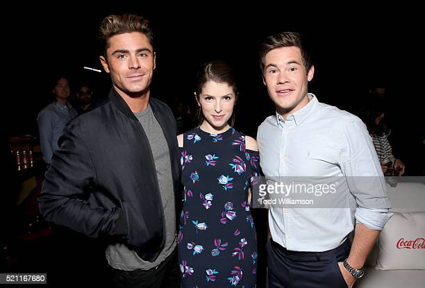 Actors Zac Efron Anna Kendrick and Adam Devine attend CinemaCon 2016 as 20th Century Fox Invites You to a Special Presentation Highlighting Its...
