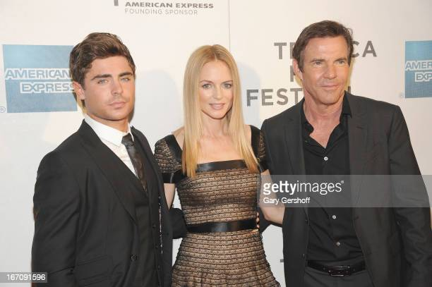 Actors Zac Efron, Heather Graham and Dennis Quaid attend the screening of 'At Any Price' during the 2013 Tribeca Film Festival at BMCC Tribeca PAC on...