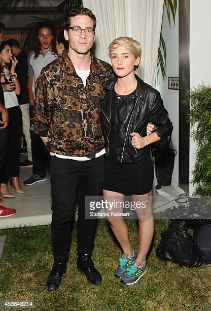 Actors Zac Fields and Addison Timlin attend a dance party with New Balance and James Jeans powered by ISKO at the home of Pascal Mouawad on August 19...