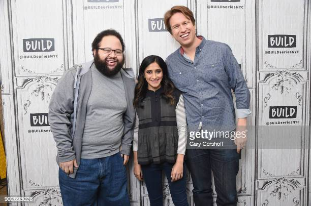 Actors Zach Cherry Aparna Nancheria and series creator and actor Pete Holmes visit Build Series to discuss the series 'Crashing at Build Studio on...