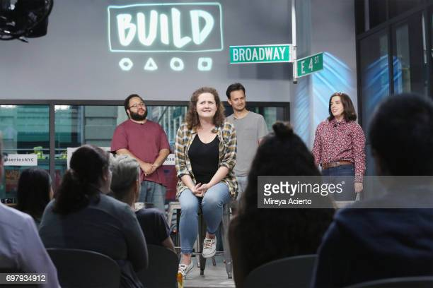 Actors Zach Cherry Chelsea Clarke Michael Cruz Kayne and Abra Tabak members of the Upright Citizens Brigade Theatre visit Build to discuss 'The Del...