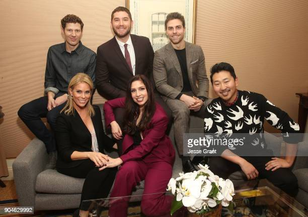 Actors Zach Gilford Josh Feldman Colt Prattes Cheryl Hines Shoshannah Stern and director/executive producer Andrew Ahn of the television show This...