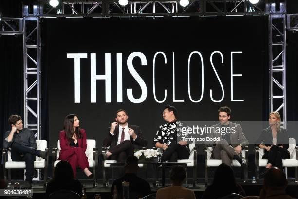 Actors Zach Gilford Shoshannah Stern Josh Feldman director/executive producer Andrew Ahn actors Colt Prattes and Cheryl Hines of the Sundance Now...