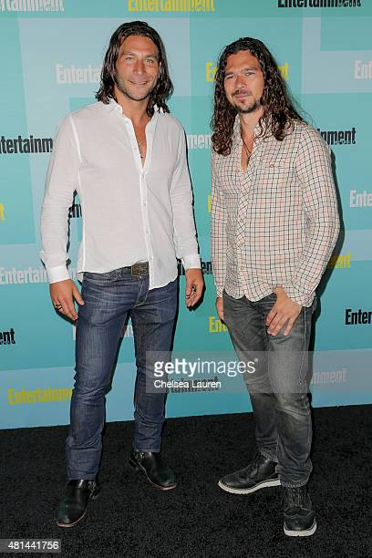 Actors Zach McGowan and Luke Arnold arrive at the Entertainment Weekly celebration at Float at Hard Rock Hotel San Diego on July 11 2015 in San Diego...
