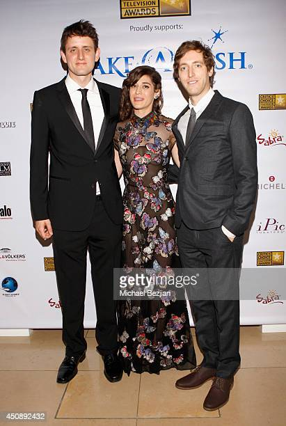 Actors Zach Woods Lizzy Caplan and Thomas Middleditch attend the 4th Annual Critics' Choice Television Awards at The Beverly Hilton Hotel on June 19...