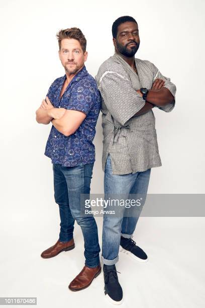 Actors Zachary Knighton and Stephen Hill of CBS's 'Magnum PI' pose for a portrait during the 2018 Summer Television Critics Association Press Tour at...
