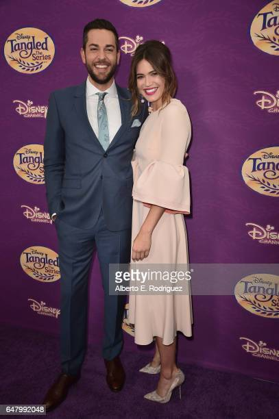 Actors Zachary Levi and Mandy Moore attend a screening of Disney Channel's 'Tangled Before Ever After' at The Paley Center for Media on March 4 2017...