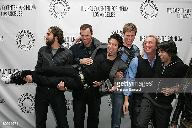 Actors Zachary Levi Joshua Gomez Adam Baldwin Ryan McPartlin Scott Krinsky and Vik Sahay from the show 'Chuck' arrive at the Paley Center for Media's...