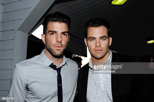 """Actors Zachary Quinto and Chris Pine attend the 19th Annual """"Hollywood Charity Horse Show"""" at the Los Angeles Equestrian Center on April 25, 2009 in..."""