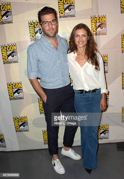 Actors Zachary Quinto and Hannah Ware attend the 20th Century Fox presentation during Comic-Con International 2014 at San Diego Convention Center on...