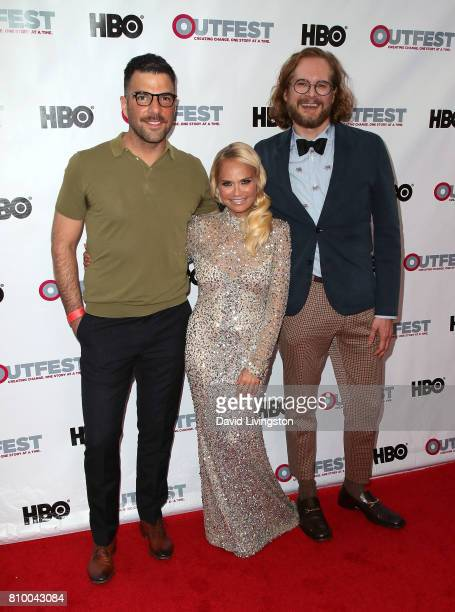 Actors Zachary Quinto and Kristin Chenoweth and writer/producer Bryan Fuller attend the 2017 Outfest Los Angeles LGBT Film Festival Opening Night...