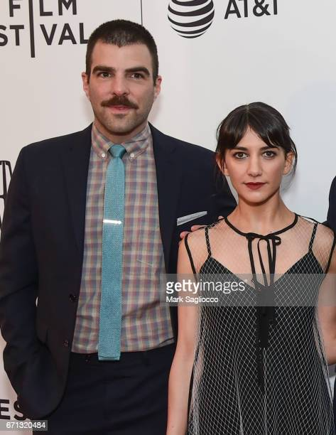"Actors Zachary Quinto and Sheila Vand attend the 2017 Tribeca Film Festival - ""Aardvark"" at SVA Theatre on April 21, 2017 in New York City."