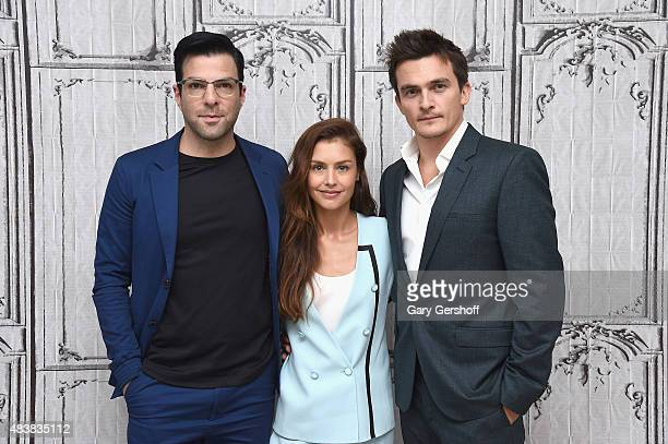 "Actors Zachary Quinto, Hannah Ware and Rupert Friend attend AOL Build Presents: ""Hitman: Agent 47"" at AOL Studios In New York on August 13, 2015 in..."