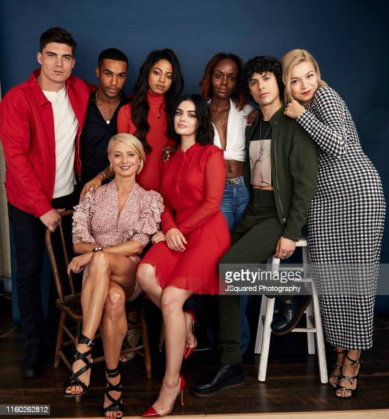 Actors Zane Holtz Lucien Laviscount Camille Hyde Ashleigh Murray Jonny Beauchamp Julia Chan Katherine LaNasa and Lucy Hale of The CW's 'Katy Keene'...