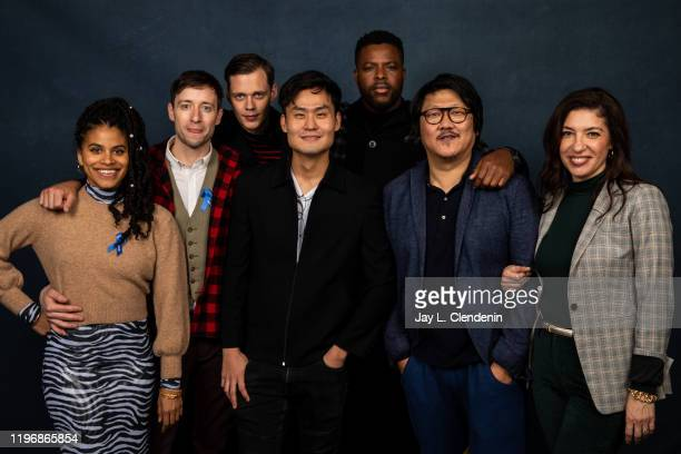 Actors Zazie Beetz David Rysdahl Bill Skarsgård director Edson Oda Winston Duke Benedict Wong and Arianna Ortiz from 'Nine Days' are photographed in...