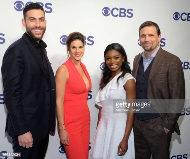Actors Zeeko Zaki Missy Peregrym Ebonee Noel and Jeremy Sisto attend the 2018 CBS Upfront at The Plaza Hotel on May 16 2018 in New York City