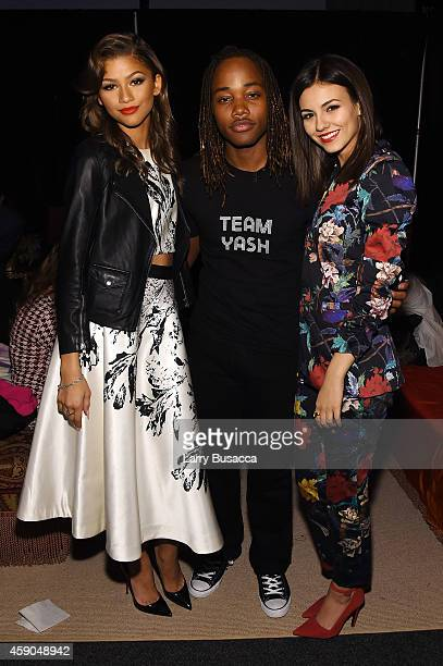 Actors Zendaya Leon Thomas and Victoria Justice pose backstage at the Sixth Annual Nickelodeon HALO Awards in New York City The hourlong concert...