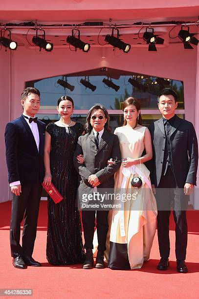 Actors Zhang Yi Lei Hao director Peter Chan actors Zhao Wei Tong Dawei attend 'Dearest' Premiere during the 71st Venice Film Festival on August 28...