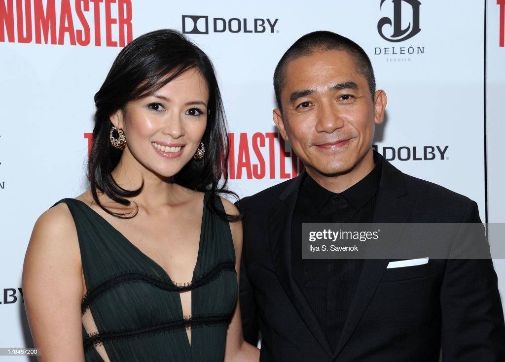 Actors Ziyi Zhang and Tony Leung attend 'The Grandmaster' New York Screening at Regal E-Walk Stadium 13 on August 13, 2013 in New York City.