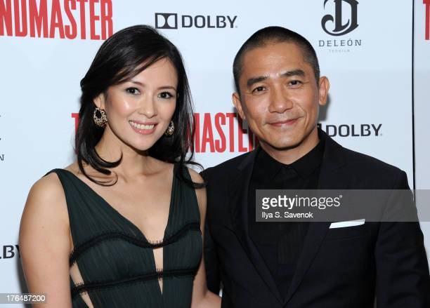 Actors Ziyi Zhang and Tony Leung attend 'The Grandmaster' New York Screening at Regal EWalk Stadium 13 on August 13 2013 in New York City