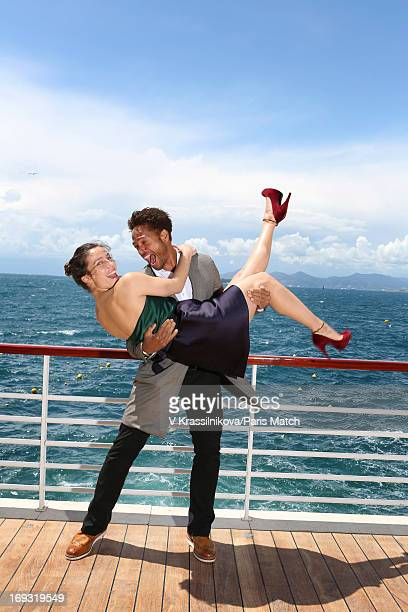 Actors Zoe Felix and Gary Dourdan are photographed for Paris Match on May 17 2013 in Cannes France