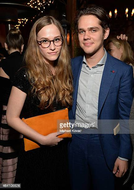 Actors Zoe Graham and Ellar Coltrane attend the AMC Networks and IFC Films Spirit Awards After Party on February 21 2015 in Santa Monica California