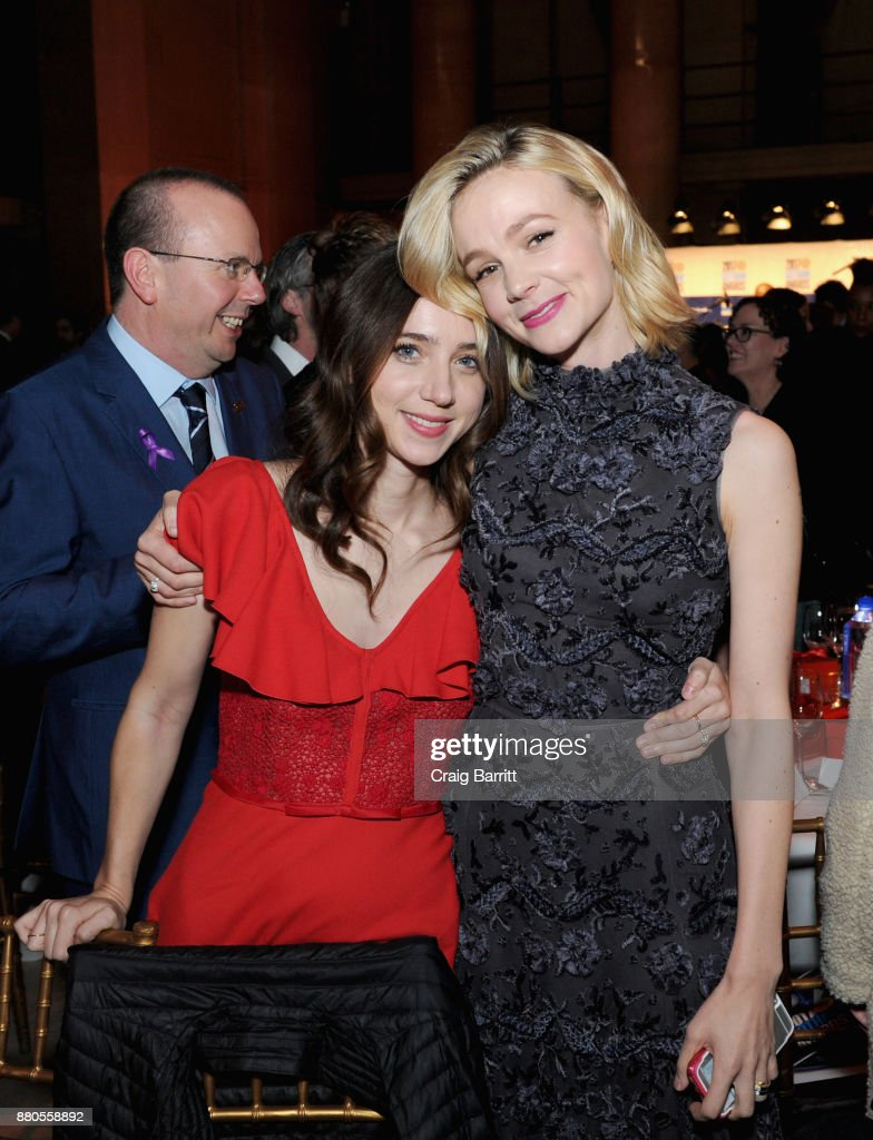 Actors Zoe Kazan and Carey Mulligan attend The 2017 IFP Gotham Independent Film Awards co-sponsored by FIJI Water at Cipriani Wall Street on November 27, 2017 in New York City.