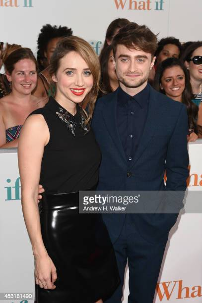 Actors Zoe Kazan and Daniel Radcliffe attend the 'What If' New York fan screening at Regal EWalk 13 on August 4 2014 in New York City