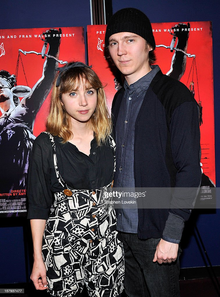 Actors Zoe Kazan and Paul Dano attend the New York premiere of 'West Of Memphis' at Florence Gould Hall on December 7, 2012 in New York City.