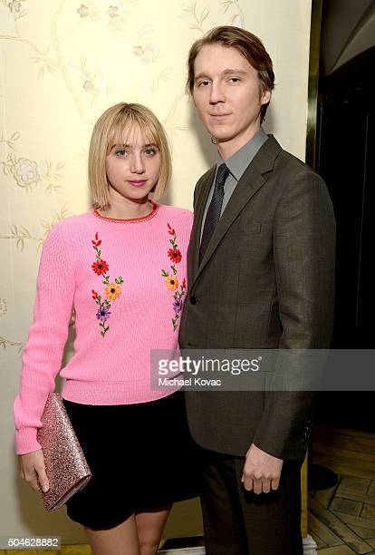 Actors Zoe Kazan and Paul Dano attend The Weinstein Company And AE Networks 'War And Peace' Screening at The London West Hollywood on January 11 2016...