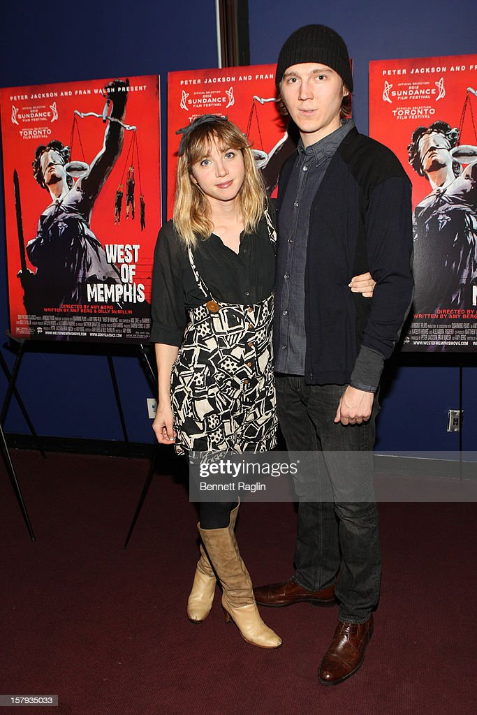 Actors Zoe Kazan and Paul Dano attends the 'West Of Memphis' premiere at Florence Gould Hall on December 7, 2012 in New York City.