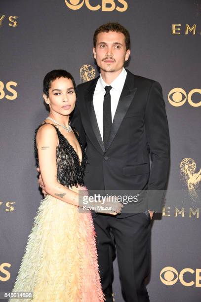 Actors Zoe Kravitz and Karl Glusman attend the 69th Annual Primetime Emmy Awards at Microsoft Theater on September 17 2017 in Los Angeles California
