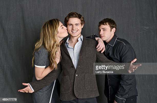 Actors Zoe Levin Callan McAuliffe and Emory Cohen from Beneath the Harvest Sky pose for a portrait at the 2014 Tribeca Film Festival Getty Images...