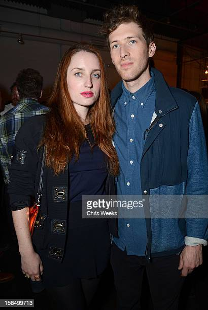 Actors Zoe Lister Jones and Daryl Wein attend Missing an interative installation by XX Kyle McDonald Aramique Krauthamer and Matt Mets at Sonos...
