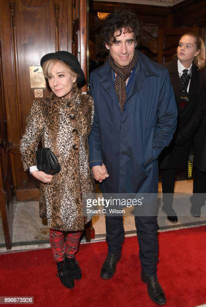 Actors Zoe Wanamaker and Stephen Mangan attend the opening night of 'Hamilton' at Victoria Palace Theatre on December 21 2017 in London England