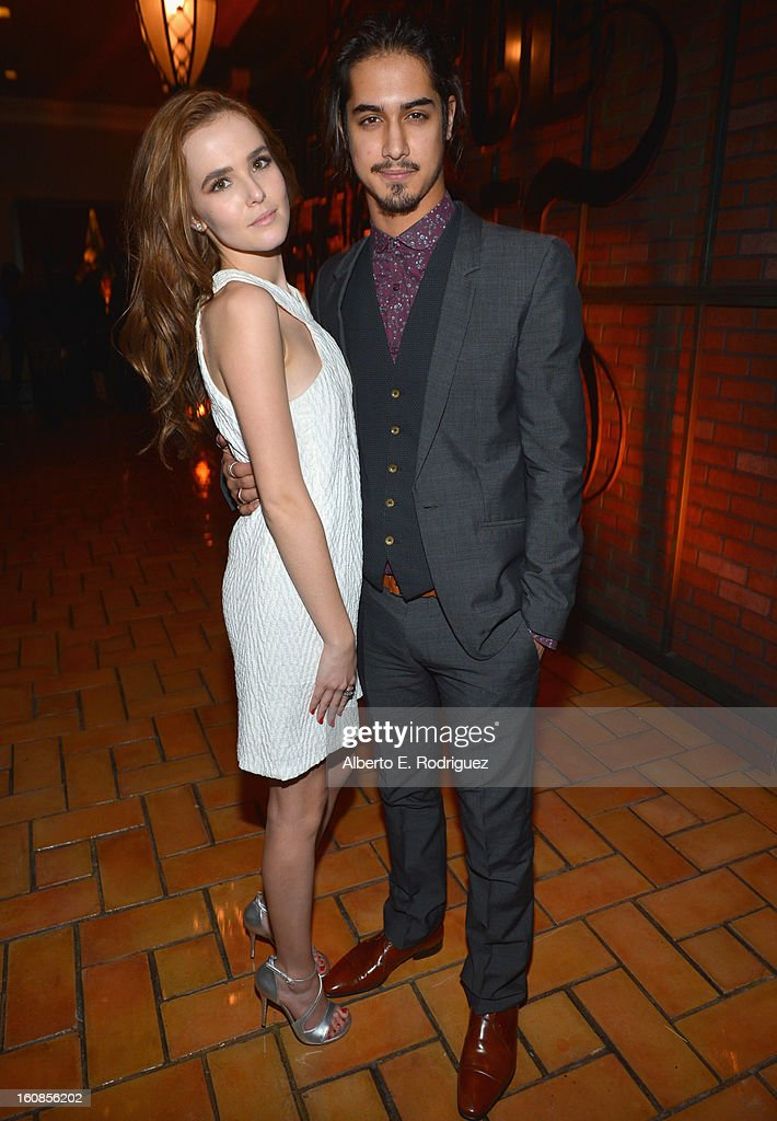 Actors Zoey Deutch and Avan Jogia attend the after party for the Los Angeles premiere of Warner Bros. Pictures' 'Beautiful Creatures' at TCL Chinese Theatre on February 6, 2013 in Hollywood, California.