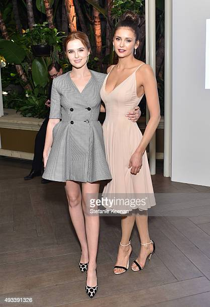 Actors Zoey Deutch and Nina Dobrev attend the 22nd Annual ELLE Women in Hollywood Awards presented by Calvin Klein Collection L'Oréal Paris and David...